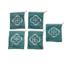 """Kendra Scott Jewelry Dust Bag Lot of 5 5 x 5.5"""""""
